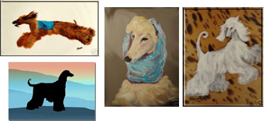 afghan hounds greeting cards