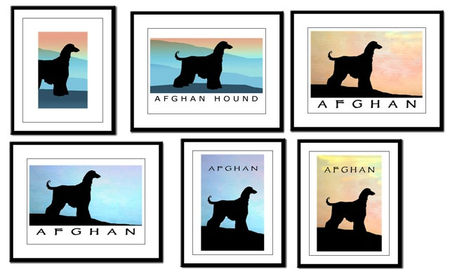 Afghan Hound Art