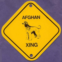 Afghan Hound Aluminum Xing Sign