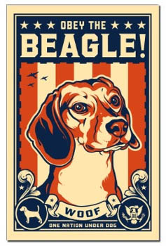 beagle revolution art poster