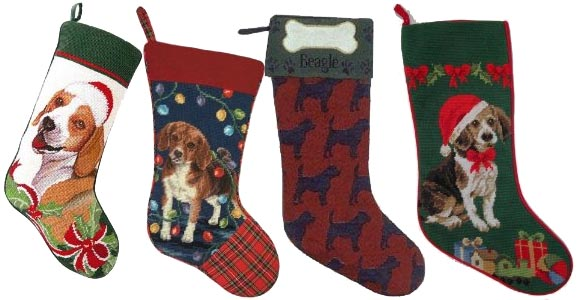 beagle christmas stockings
