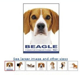 beagle dogs artlist cards