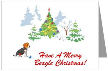 beagle merry christmas picture