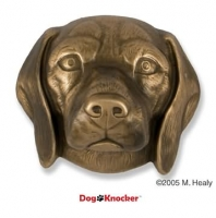 Beagle Door Knocker Bronze