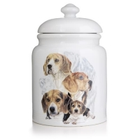 Beagle Porcelain Treat Jar