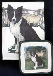 Border Collie Dish Towel