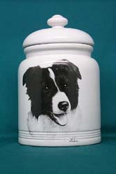 Border Collie Cookie Jar