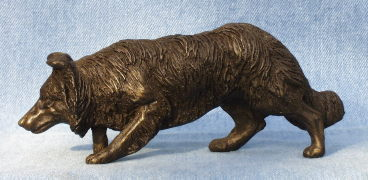 border collie sculpture