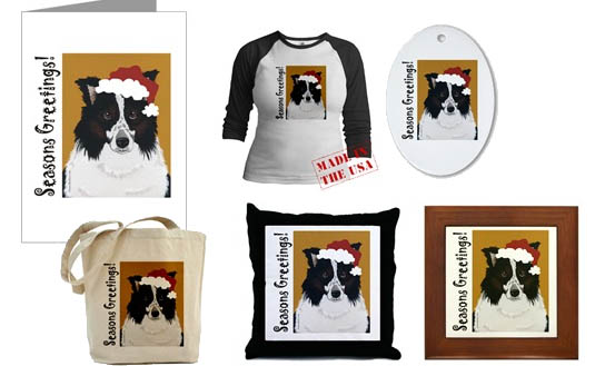 Herding Border Collie Christmas Cards and Decor