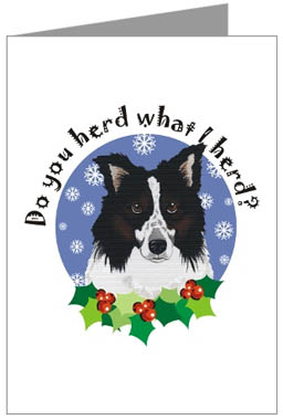 Herding Border Collie Christmas Cards