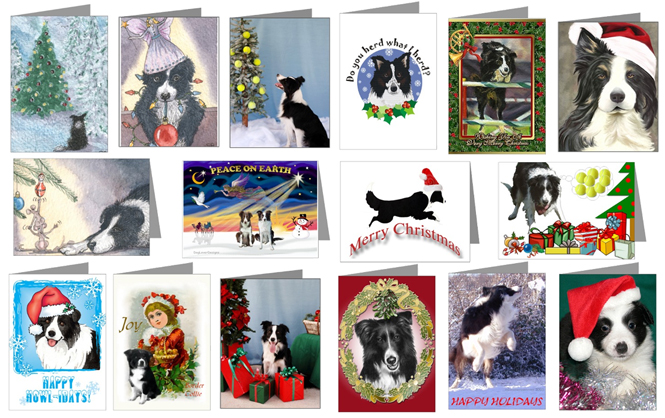 Border Collies Christmas Ornaments