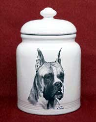 boxer dogs cookie jar