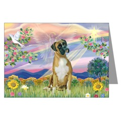 Boxer dog Sympathy Card