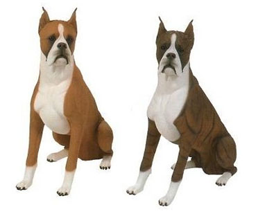 boxer dogs lifesize figurines