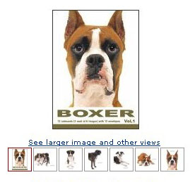 boxer dogs artlist cards