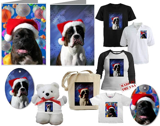 Boxer dogs Christmas