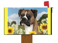 boxer dog mailbox cover