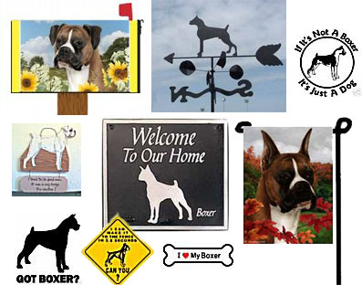boxer outdoor decor