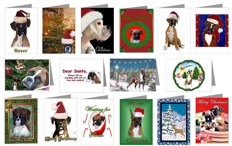 Boxer Christmas Cards