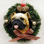 Bulldog Christmas Ornament