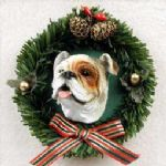 Bulldog X-Mas Ornament