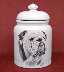 bulldog cookie jar