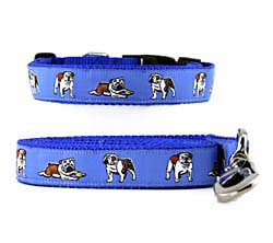English Bulldog Collar and Leash