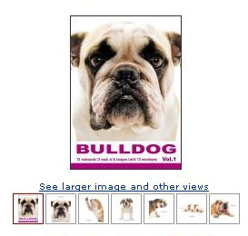 bulldog the dog artlist cards