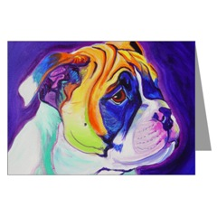Bulldog Head Study Greeting Card