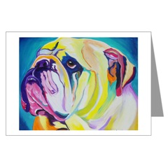English Bull dog Pop Art Greeting Cards
