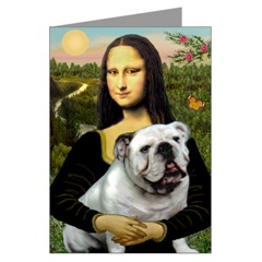 White Bulldog and Mona Lisa