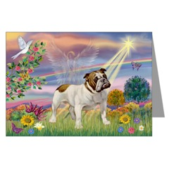 Bulldog Dog Sympathy Card