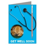 Get well soon Bulldog Card