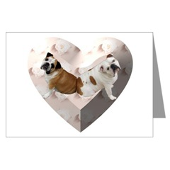 English Bulldogs Heart Love