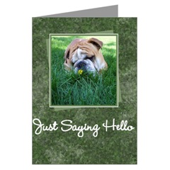 Just Saying Hello Bulldog Card