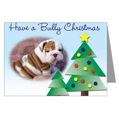 English Bulldog Pup Christmas Cards