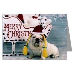 English Bulldog Merry Christmas Cards