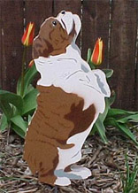 bulldog garden ornament
