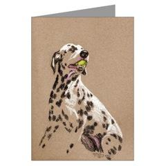 Dalmatian w. Tennis Ball Art Cards