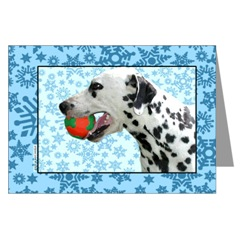 Dalmatian with a Ball
