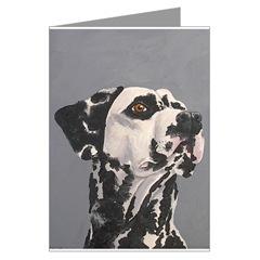 Dalmatian Head Study Art Cards