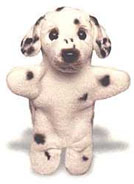 stuffed dalmatian dog puppet