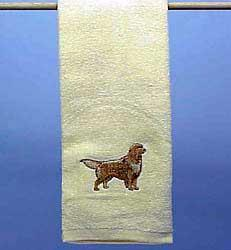golden retriever towel