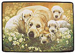 Golden Retriever Family Doormat