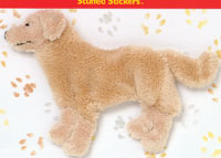 golden retriever stuffed sticker