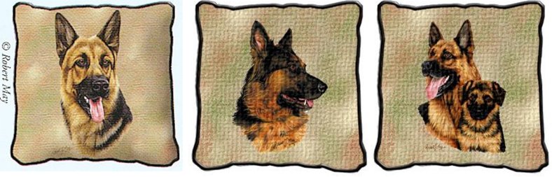 German Shepherd Tapestry Pillow