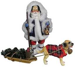 Santa and Saint Clothtique Figure