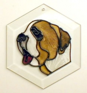 Saint Bernard Sun Catcher