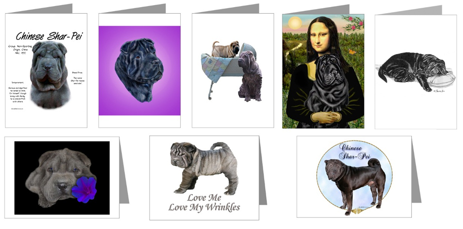 black shar pei cards