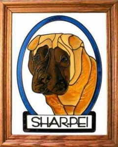 Shar-Pei Stained Glass